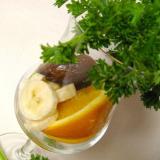 Smoothie met rucola, mango en banaan